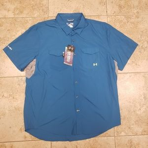 Under Armour Iso Chill Mens Short Sleeve Fishing